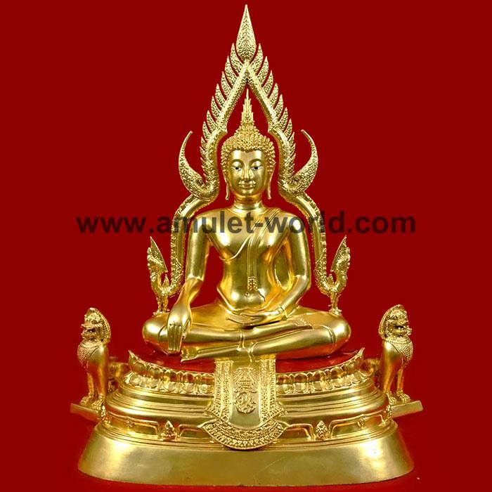 พระพุทธชินราช จปร. วัดเบญจมบพิตร กทม. ปี2539 หน้าตัก 9 นิ้ว เนื้อโลหะผสม ปิดทองคำเปลวแท้