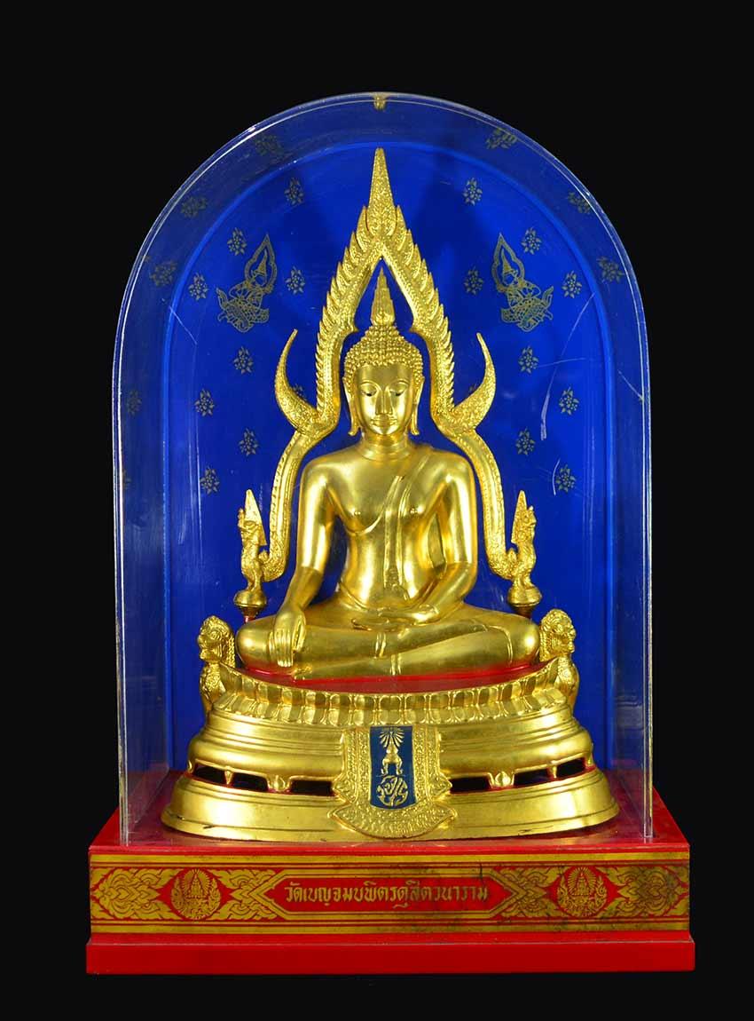 พระพุทธชินราช จปร. วัดเบญจมบพิตร ปี 2519 หน้าตัก 9 นิ้ว หล่อดินไทย (ร.9 และ ราชินี เสด็จฯเททอง)