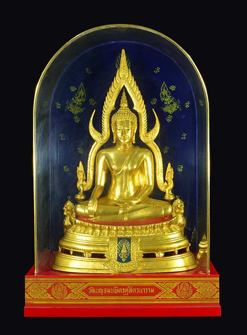 ระพุทธชินราช มวก. วัดเบญจมบพิตร ปี 2519 หน้าตัก 9 นิ้ว หล่อดินไทย (ร.9 และ ราชินี เสด็จฯเททอง)