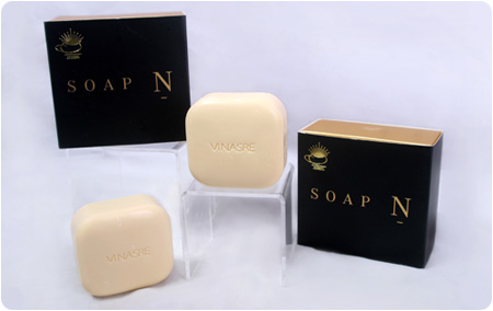 "VINASRE SOAP   สบู่ที่ขนานนามกันทั่วไปในเว็บไซด์และสื่อต่างๆ ในขณะนี้ว่า  ""สบู่ขั้นเทพ"""