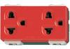 ปลั๊กกราวน์คู่ สีแดง รุ่นใหม่ พานาโซนิค WEG 15929R 16A250V Panasonic