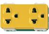 ปลั๊กกราวด์คู่ สีเหลือง WEG 15929Y Panasonic