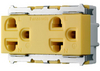 เต้ารับคู่มีกราวด์ สีเหลือง WNG15923-7Y Panasonic
