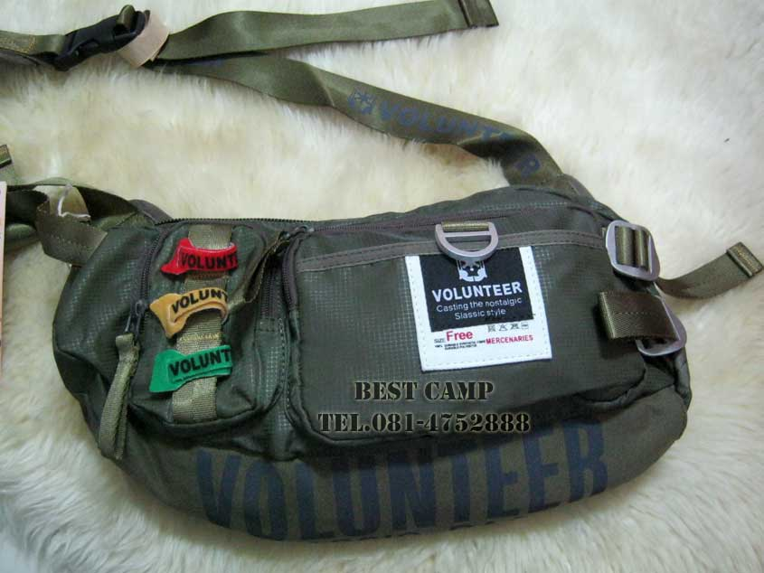 กระเป๋าแนว TACTICAL ,OUTDOOR,VOLUNTEER VA-1173-33 BLACK,GREEN
