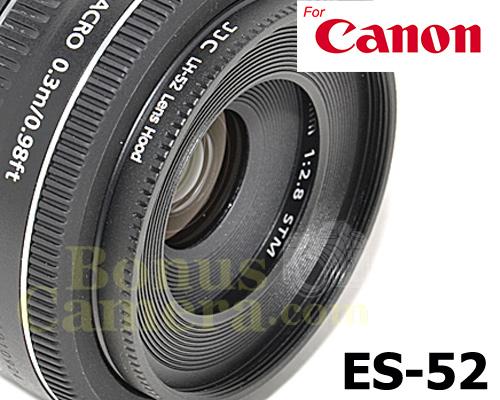 ES-52 Aluminium Alloy Mount Lens Hood Suitable for Canon EF-S 24mm ...