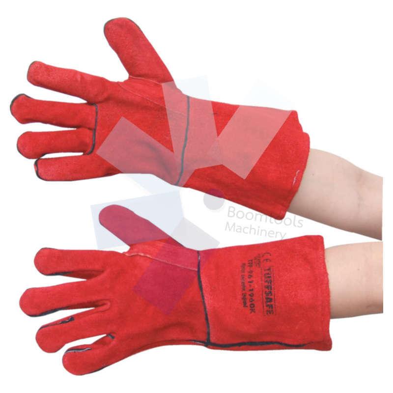 ถุงมือหนังกันความร้อนสีแดง SIZE 10 TUFFSAFE