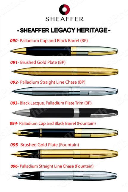 แค็ตตาล็อค ปากกาเชฟเฟอร์ Sheaffer Legacy Heritage