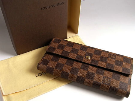separation shoes 63aeb 79cca LOUIS VUITTON DAMIER EBENE CANVAS INTERNATIONAL WALLET ...