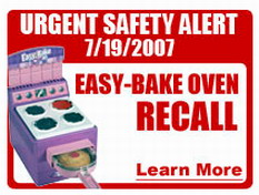 Product Recall Information: Easy-Bake Oven