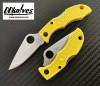 มีดพับ Spyderco Ladybug 3 Yellow Key Ring Knife H1 Steel Plain Blade (LYLP3)
