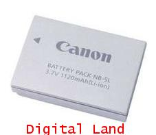 Canon Genuine Lithium Battery NB-5L