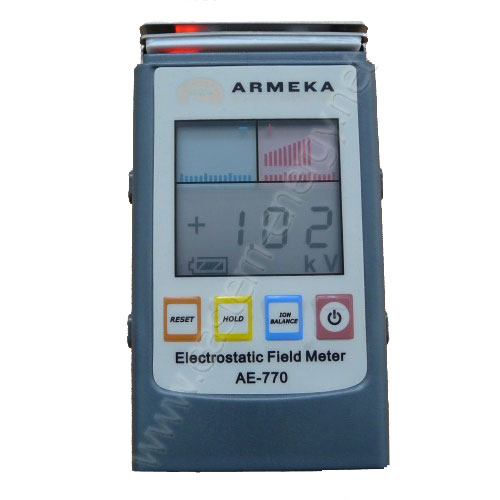 Electrostatic Field Meter เครื่องวัดค่าไฟฟ้าสถิต รุ่น AE-770 - คลิกที่นี่เพื่อดูรูปภาพใหญ่