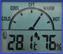 เครื่องวัดอุณหภูมิและความชื้น Thermo-hygrometer