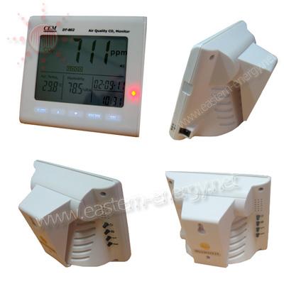 เครื่องตรวจวัดก๊าซคาร์บอนไดออกไซด์ Desktop Indoor Air Quality CO2 Meter แบบแขวน หรือ ตั้งโต๊ะ