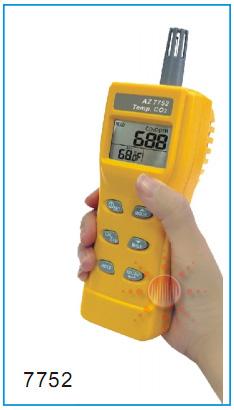 AZ-instrument AZ7752: เครื่องวัดก๊าซคาร์บอนไดออกไซด์ > Carbon Dioxide Meter : CO2
