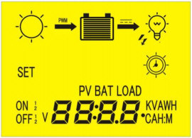SOLAR CONTROLLER - LCD DISPLAY