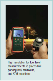 Extech EA31: EasyView™ Light Meter
