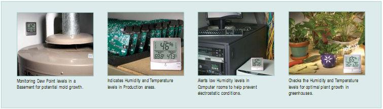 เครื่องวัดอุณหภูมิ ความชื้น Dew Point, Humidity Alert