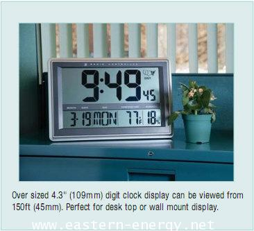 Radio-Controlled Wall Clock Hygro-Thermometer