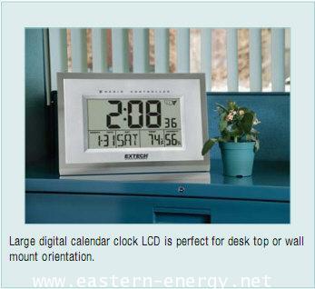 ป้ายแสดงเวลาและอุณหภูมิ Clock Hygro-Thermometer ขนาดใหญ่
