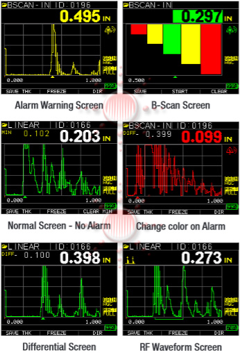 TKG250 Color Screen displays
