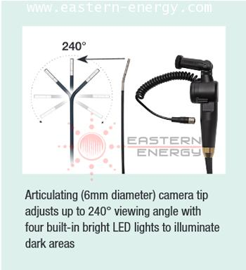 Articulating (6mm diameter) camera tip  adjusts up to 240