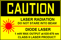 CAUTION CLASS II LASER PRODUCT