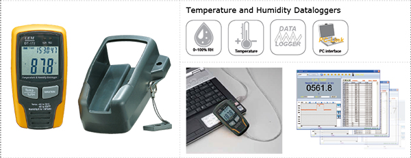 CEM DT-172 :Temperature and Humidity Dataloggers