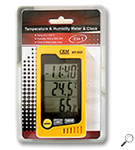 CEM DT-322 :เครื่องวัดอุณหภูมิความชื้น Temperature & Humidity Meter & Clock