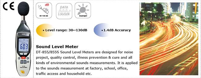 เครื่องวัดเสียง เครื่องวัดความดังเสียง ระดับเสียง Sound Level Meter CEM DT-855/855S
