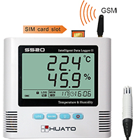 S500-EX-GSM เครื่องบันทึกอุณหภูมิความชื้นแจ้งเตือน SMS, GSM Alarm Data Logger