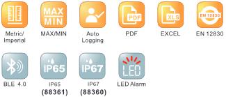 เครื่องบันทึกอุณหภูมิข้อมูล แบบบลูทูธ Bluetooth Temperature Data logger