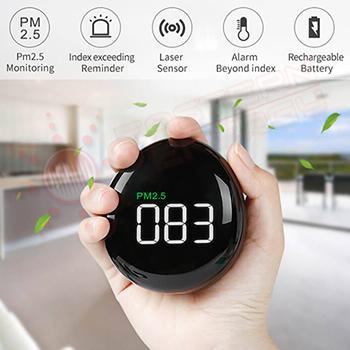 เครื่องวัดค่าฝุ่นละออง PM2.5 สำหรับวัดภายในอาคาร บ้าน รถยนต์ สำนักงาน