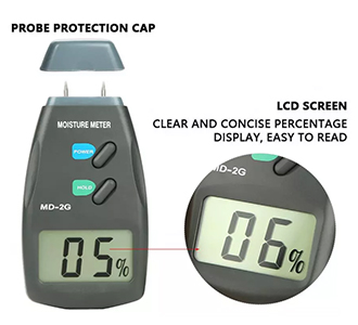 เครื่องวัดความชื้นไม้ ไม้ไผ่, ผ้าฝ้าย, ยาสูบ digital moisture meter