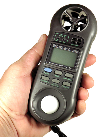 เครื่องวัดความเร็วลม เครื่องวัดแสง เครื่องวัดอุณหภูมิ เครื่องวัดความชื้น 4 in1