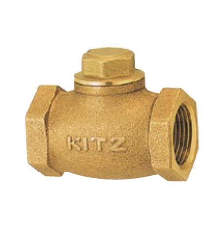KITZ Bronze Check Valve W.O.G. 125 Psi. Thread End to BS21 Size 2.1/2 Inch. model. F/AKF