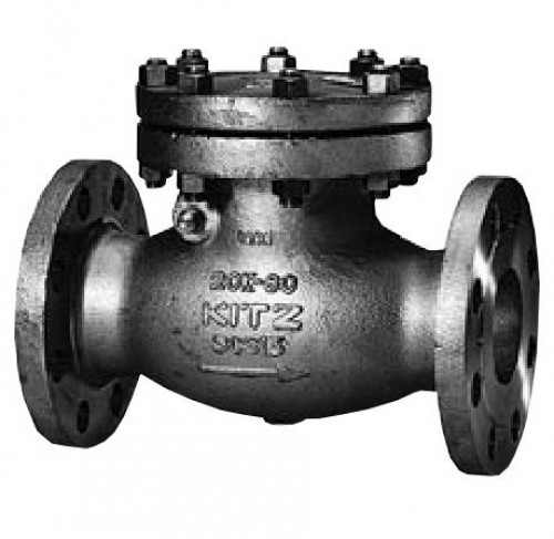 KITZ Stainless Steel Swing Check Valve CF8 300 Psi. Flanged 5 Inch. model.300UOA(T)