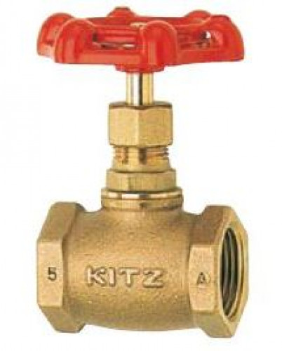 KITZ Bronze Globe Valve W.O.G. 100 Psi. Thread End to NPT Size 4 Inch. model. A/AKA