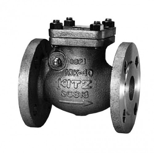 KITZ Stainless Steel Swing Check Valve SCS14A 10K Psi. Flanged 6 Inch. model.10UOAM(T)