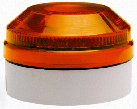 Beacon,xenon,flashing,15-28Vac/dc,104mm,amber lens,deep base รุ่น X195-05WH-01 ยี่ห้อ Moflash