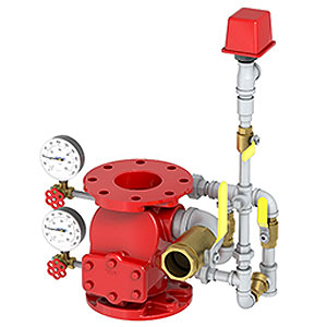 Alarm Valve J-1 w/vertical trim UL/FM for 300 psi., w.p. VIKING
