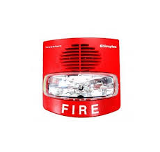 SIMPLEX Non-Addressable Horn with Strobe selectable 15,30,75,110 CD Wall RED model.4908-9127