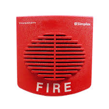 SIMPLEX Non-Addressable Speaker 25-70VRMS RED Wall Mount model.4092-9716