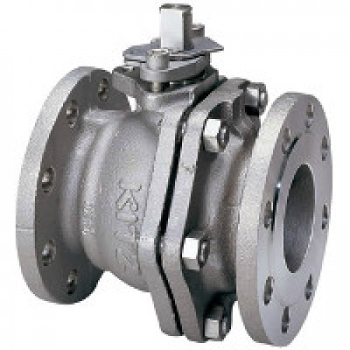 KITZ Stainless Steel Ball Valve CF8 W.O.G. 150 Psi. Flanged End Size 5 Inch. model. 150UTDZ
