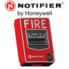 NOTIFIER Single Action Lexan Station ,Red ,Pig tail leads ,Hex Jack Model. NBG12S/J