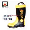 รองเท้าดับเพลิง รุ่น 9687L ยี่ห้อ HARVIK มาตราฐาน CE/EN และ NFPA
