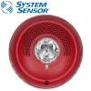 SYSTEM SENSOR Ceilling Speaker/Strobe ,Outdoor ,Selectable Cendela ,Red Model. SPSCRL