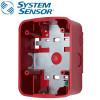 SYSTEM SENSOR Wall Speaker Surface Mount back Box ,Red Model. SBBSPRL