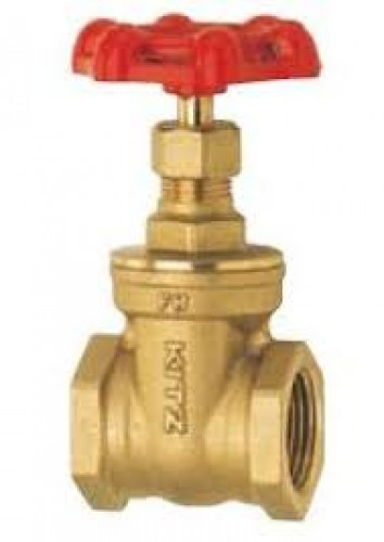 KITZ Brass Gate Valve W.O.G. 125 Psi. Thread End BS21 Size 3/4 Inch. model. FH/AKFH