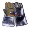 ถุงมือป้องกันความร้อน 300 องศาเซลเซียส ชนิดหนัง+อลูมิไนซ์ (Aluminized)